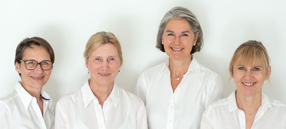 Ingrid Polster, Ulla Wellmann, Elisabeth Josenhans, Kathrin Brown